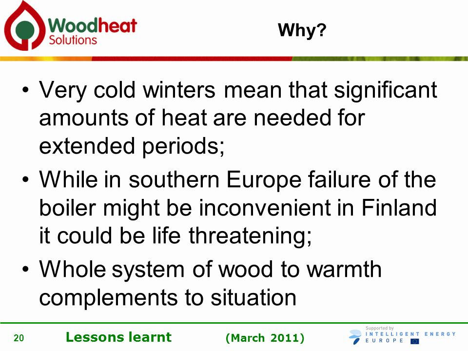Whole system of wood to warmth complements to situation
