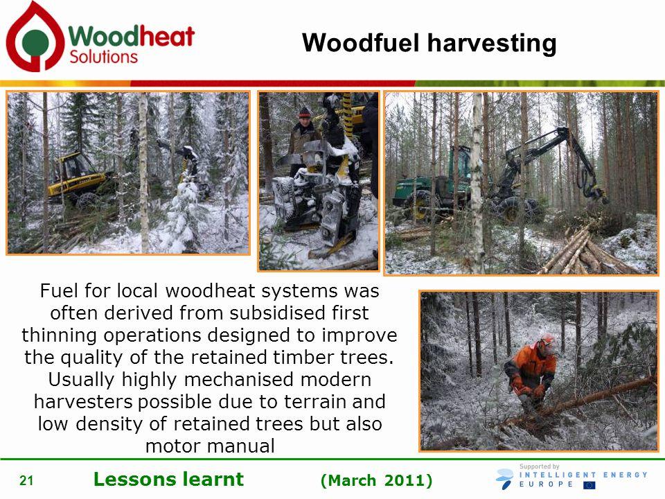 Woodfuel harvesting