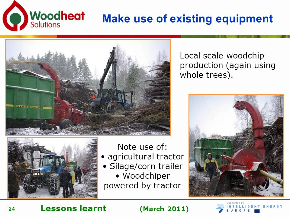 Make use of existing equipment
