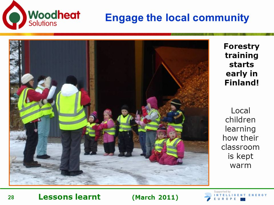 Engage the local community