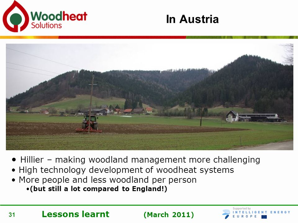 In Austria Hillier – making woodland management more challenging