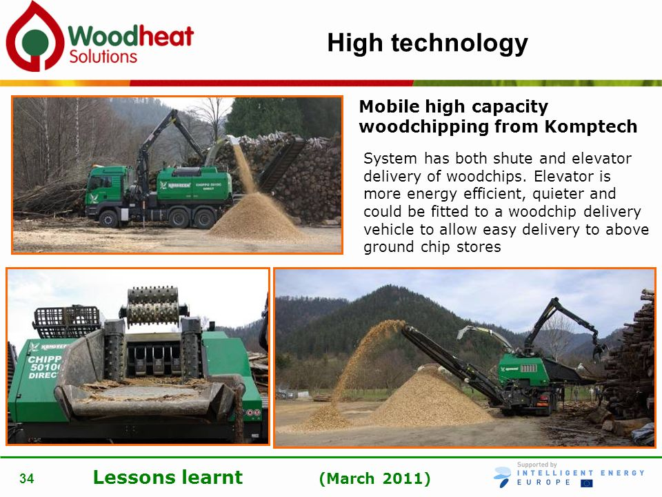 High technology Mobile high capacity woodchipping from Komptech