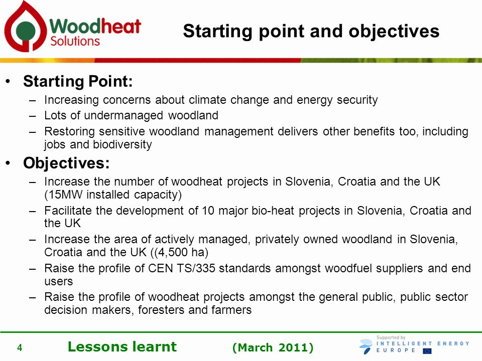 Starting point and objectives