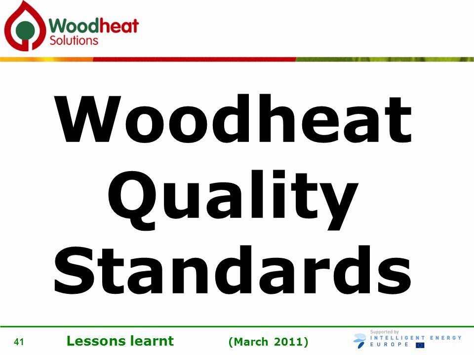 Woodheat Quality Standards