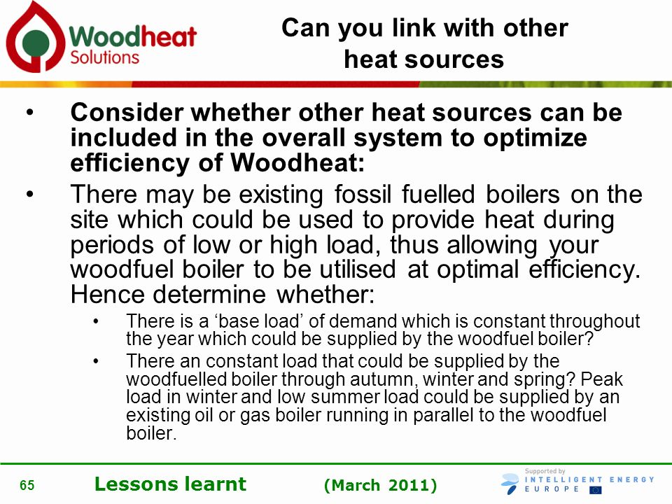 Can you link with other heat sources