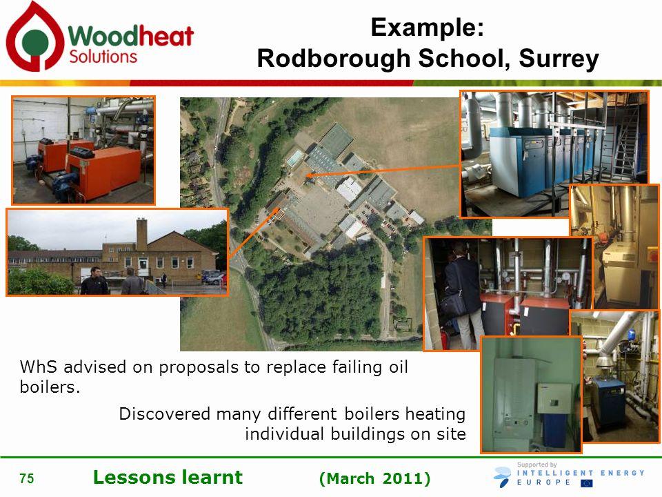 Example: Rodborough School, Surrey