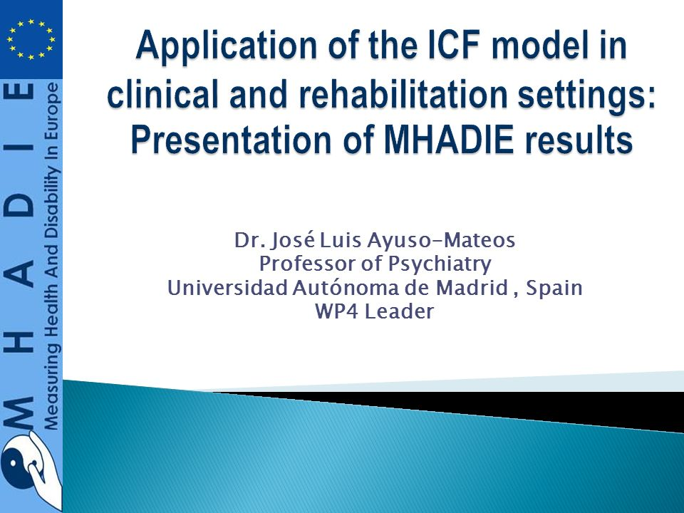 Application of the ICF model in clinical and rehabilitation settings: Presentation of MHADIE results