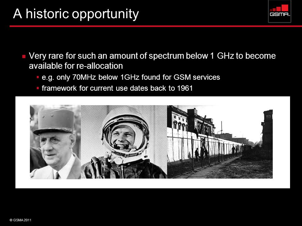 A historic opportunity t