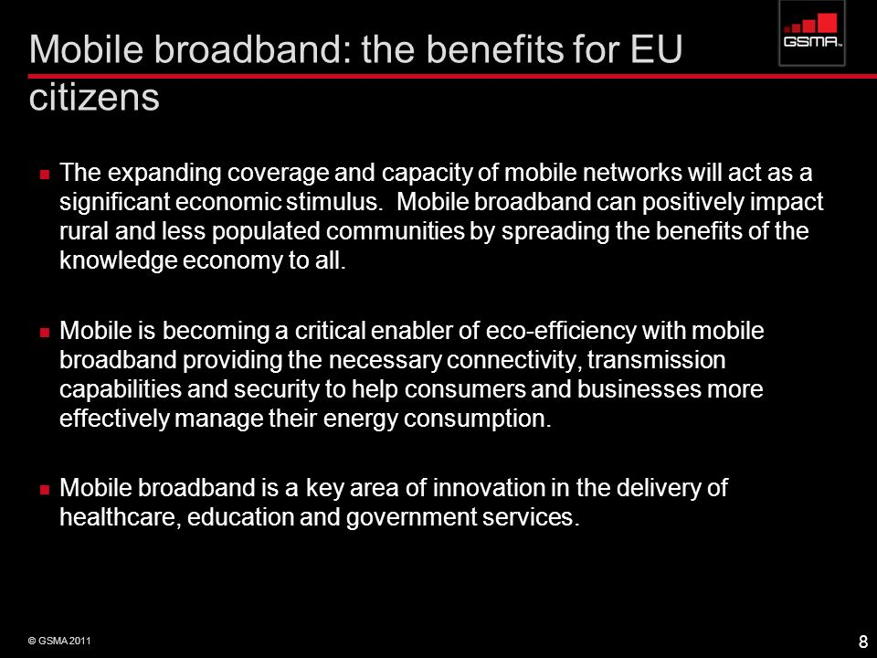 Mobile broadband: the benefits for EU citizens