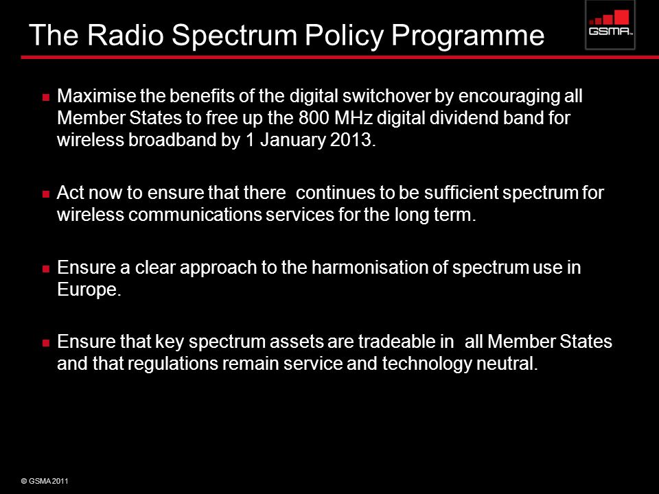 The Radio Spectrum Policy Programme