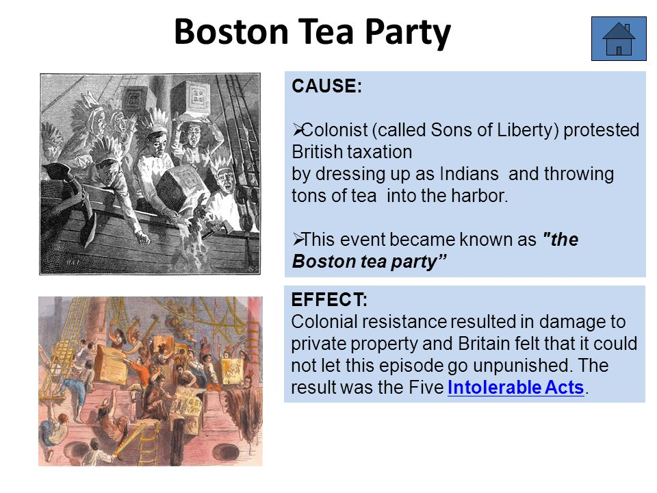 Cause And Effect Of The Boston Tea Party - Party City Hours