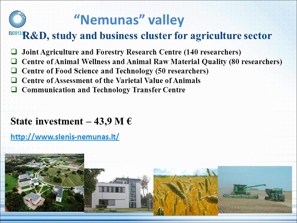 R&D, study and business cluster for agriculture sector