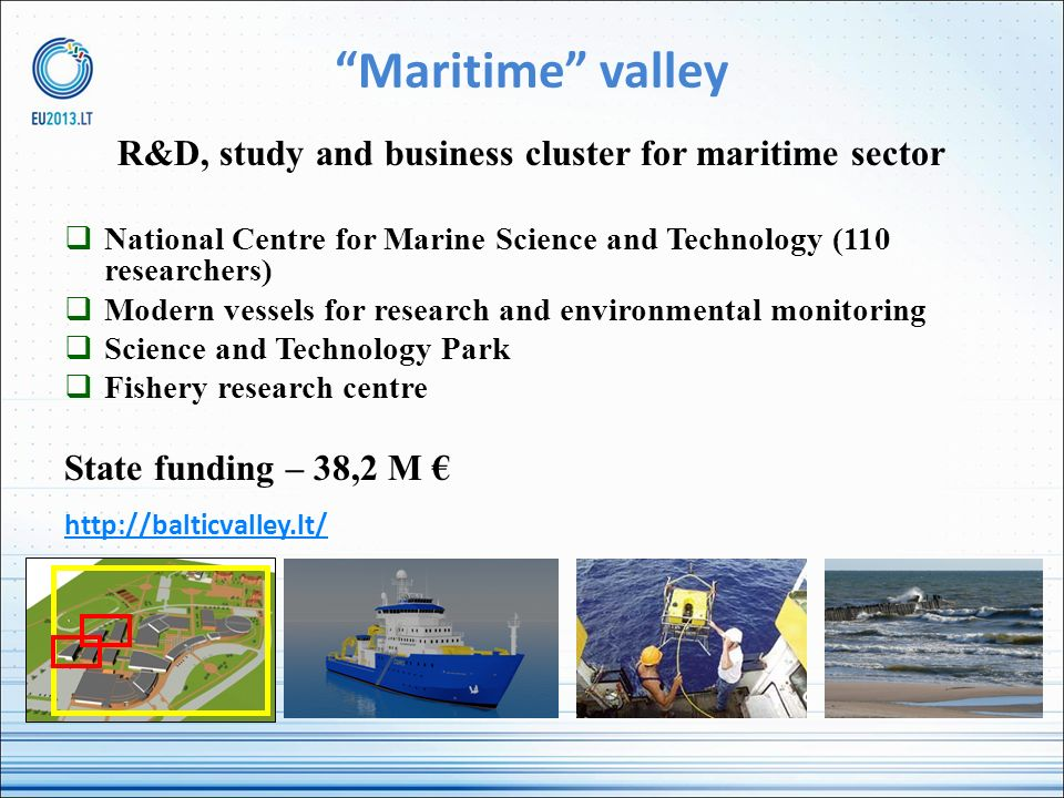 R&D, study and business cluster for maritime sector