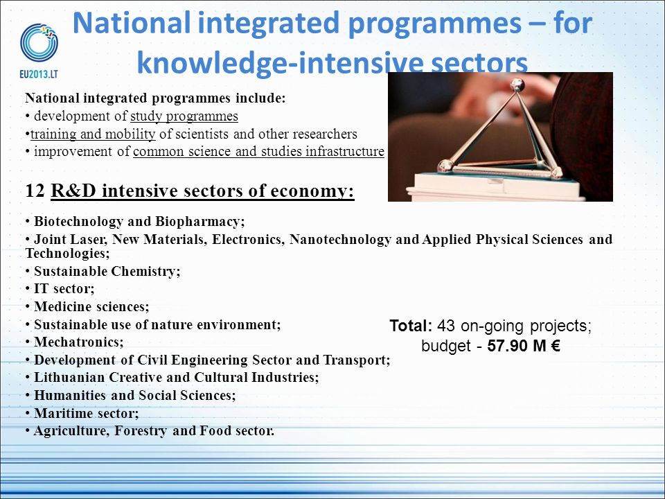 National integrated programmes – for knowledge-intensive sectors
