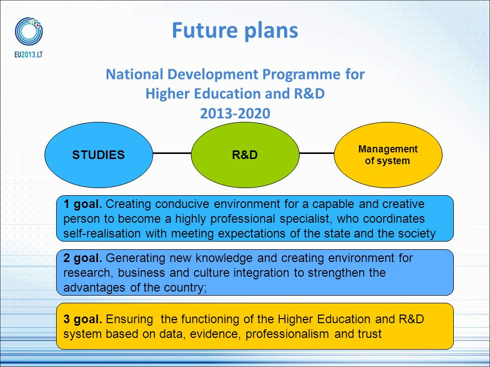 National Development Programme for Higher Education and R&D 2013-2020