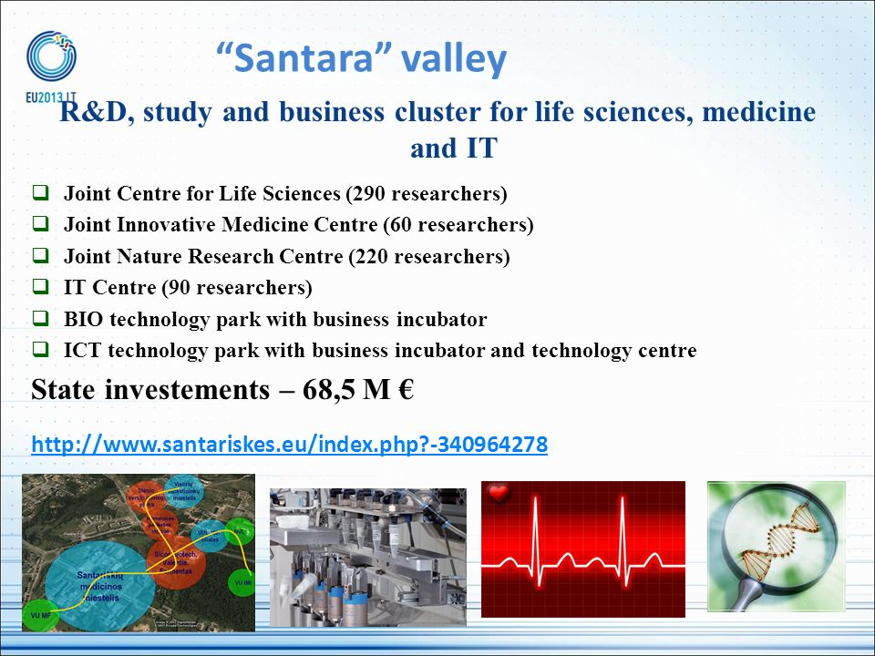 R&D, study and business cluster for life sciences, medicine and IT