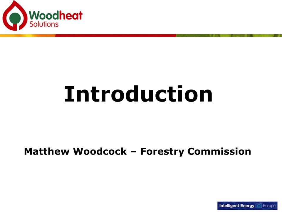 Matthew Woodcock – Forestry Commission