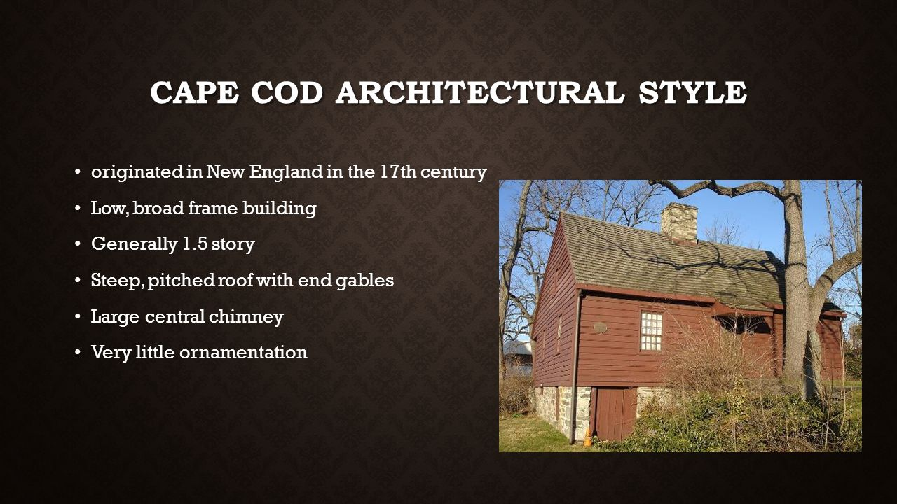 Art deco arts and crafts bungalow ppt video online download for Cape cod architecture