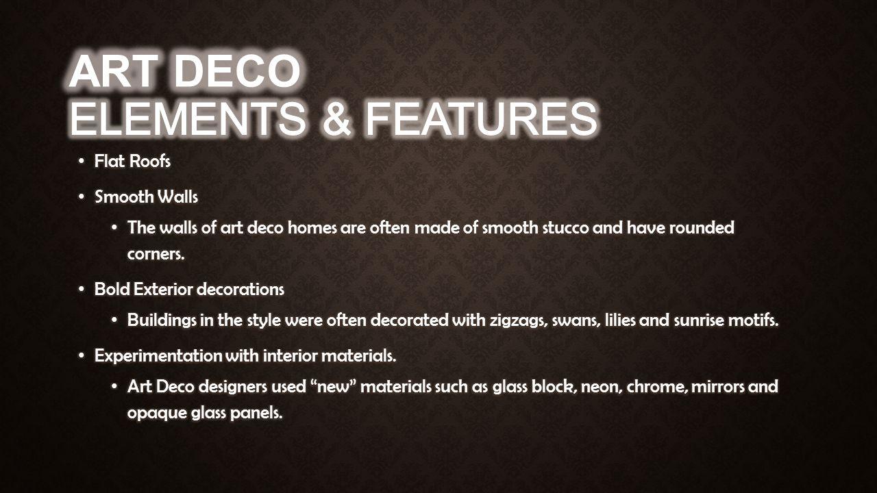art deco arts and crafts bungalow ppt video online download. Black Bedroom Furniture Sets. Home Design Ideas