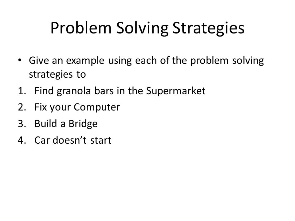 10 problem solving strategies pdf