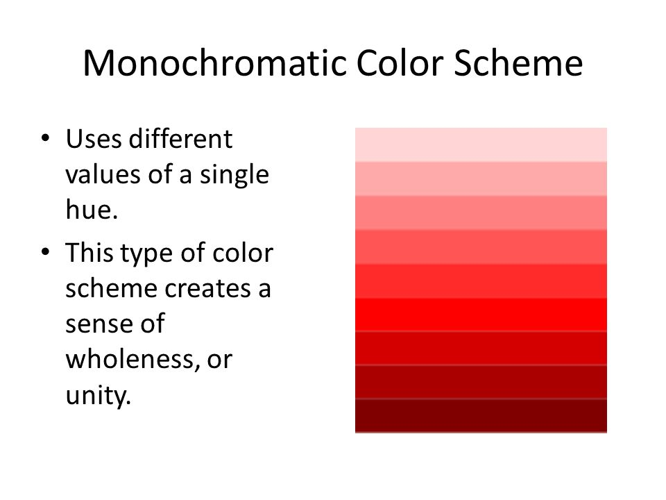 Monochromatic Color Scheme on Example Of Monochromatic Color Scheme
