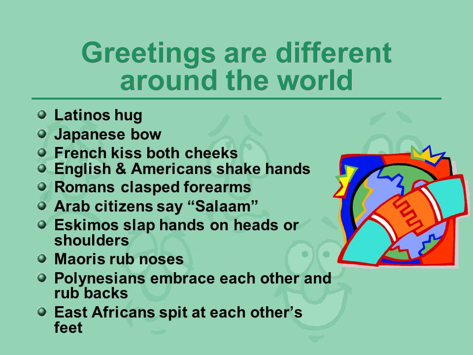 Nonverbal communication ppt video online download greetings are different around the world m4hsunfo Gallery