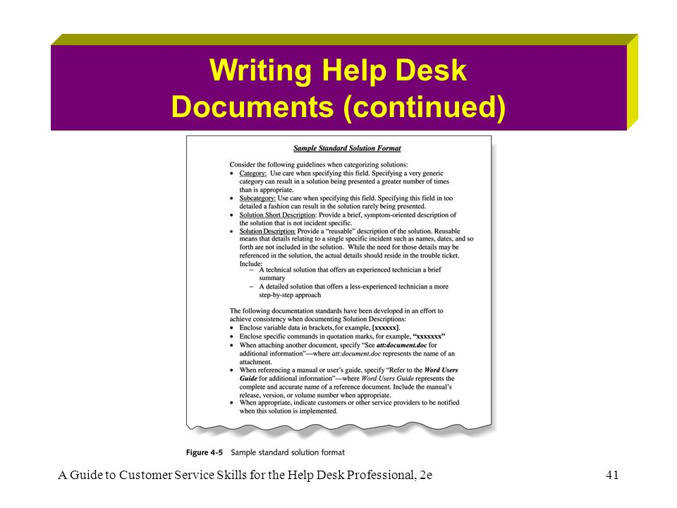 Help desk literature review