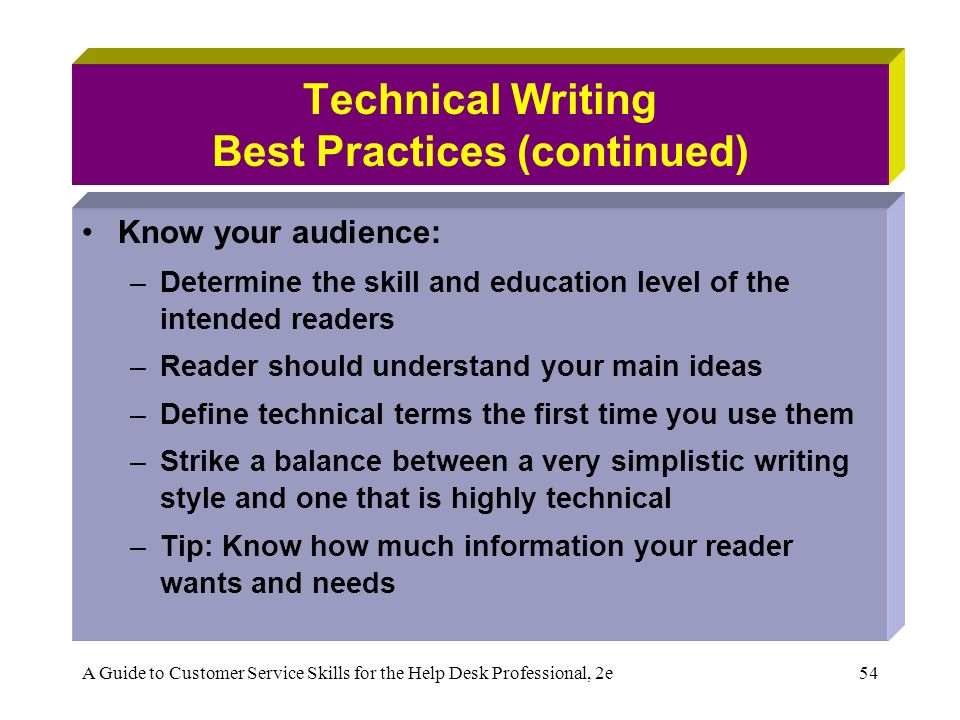 technical writing strategies