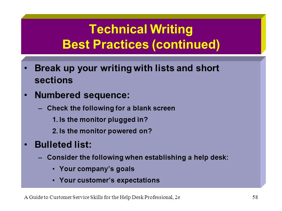 best practices in writing
