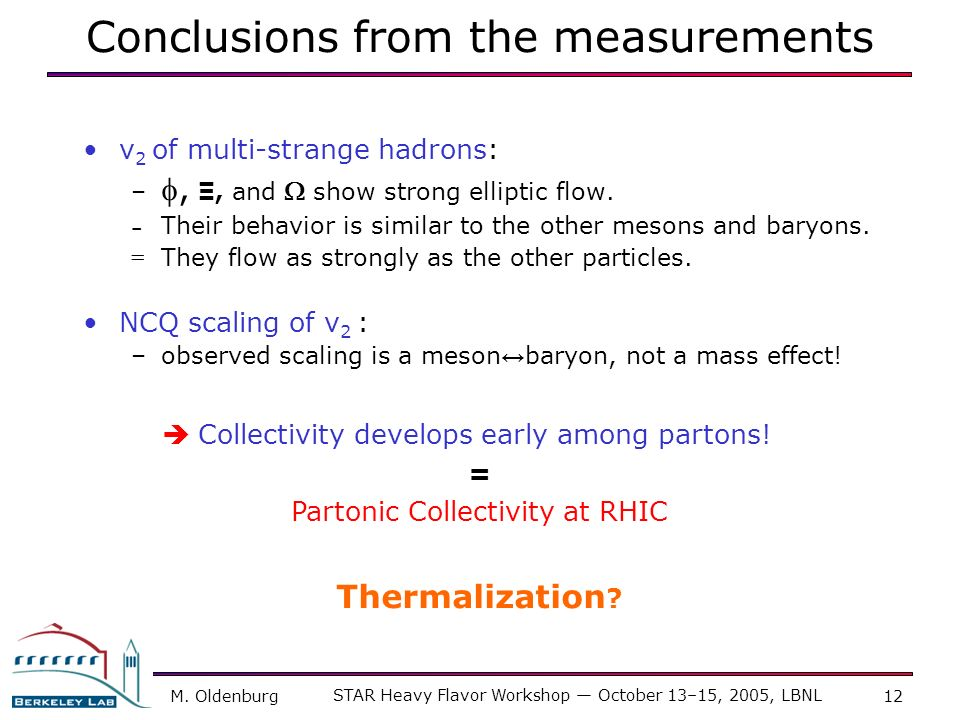 Conclusions from the measurements