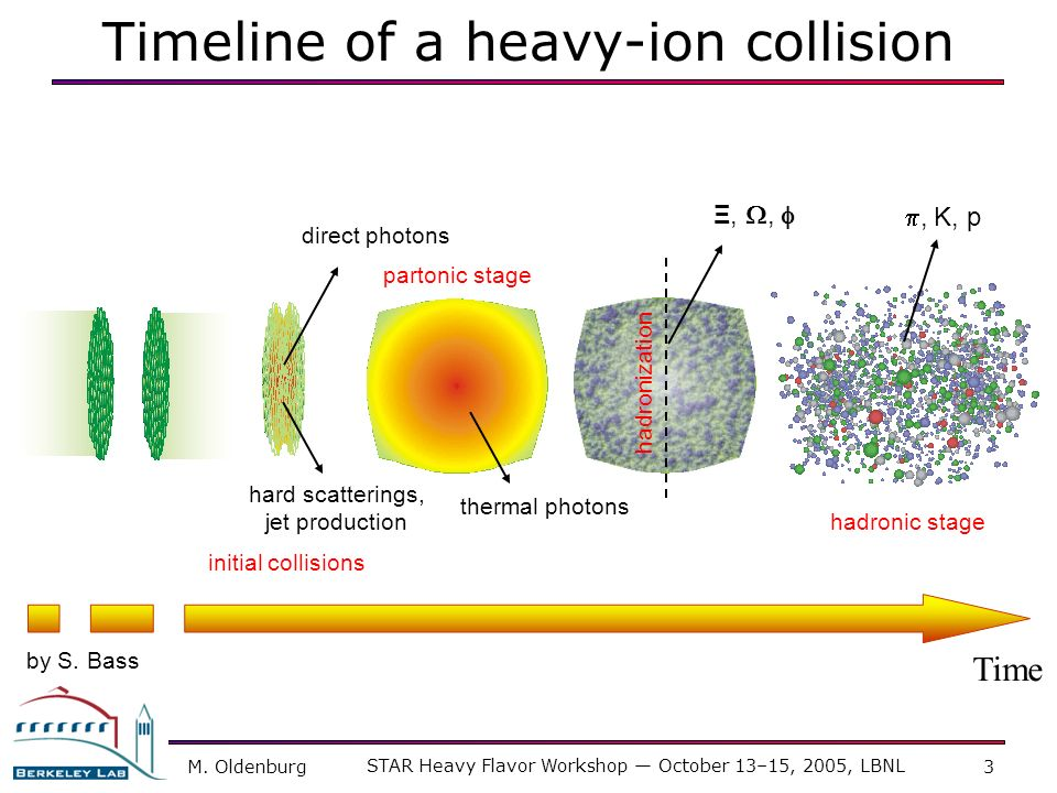 Timeline of a heavy-ion collision