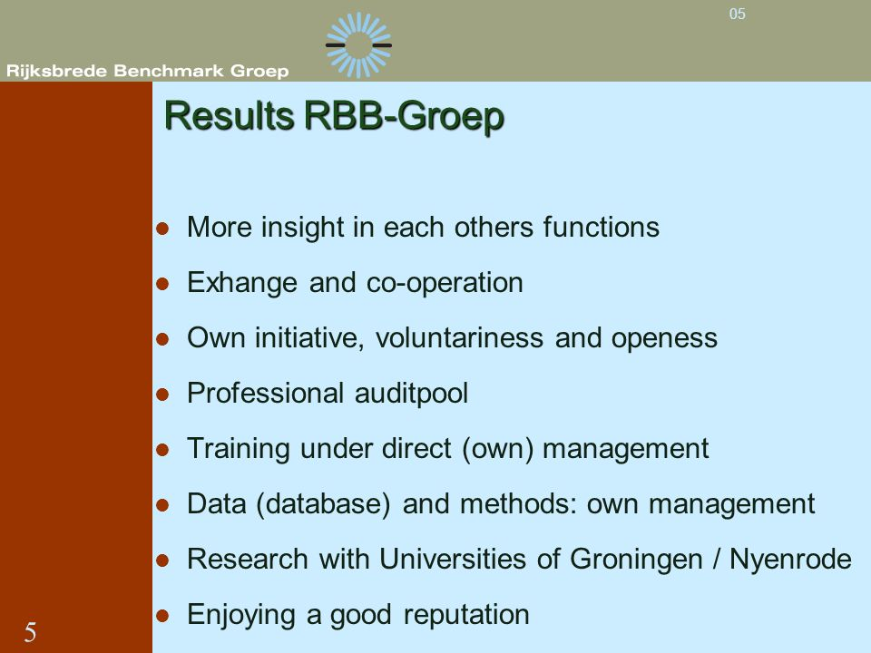 Results RBB-Groep More insight in each others functions