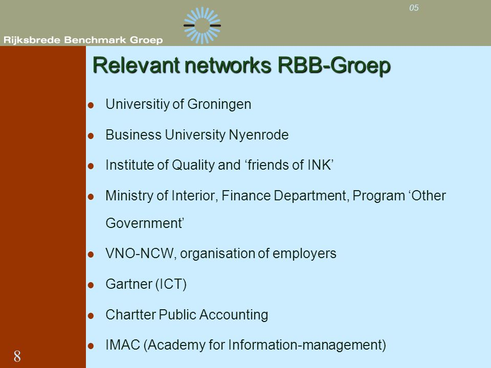 Relevant networks RBB-Groep