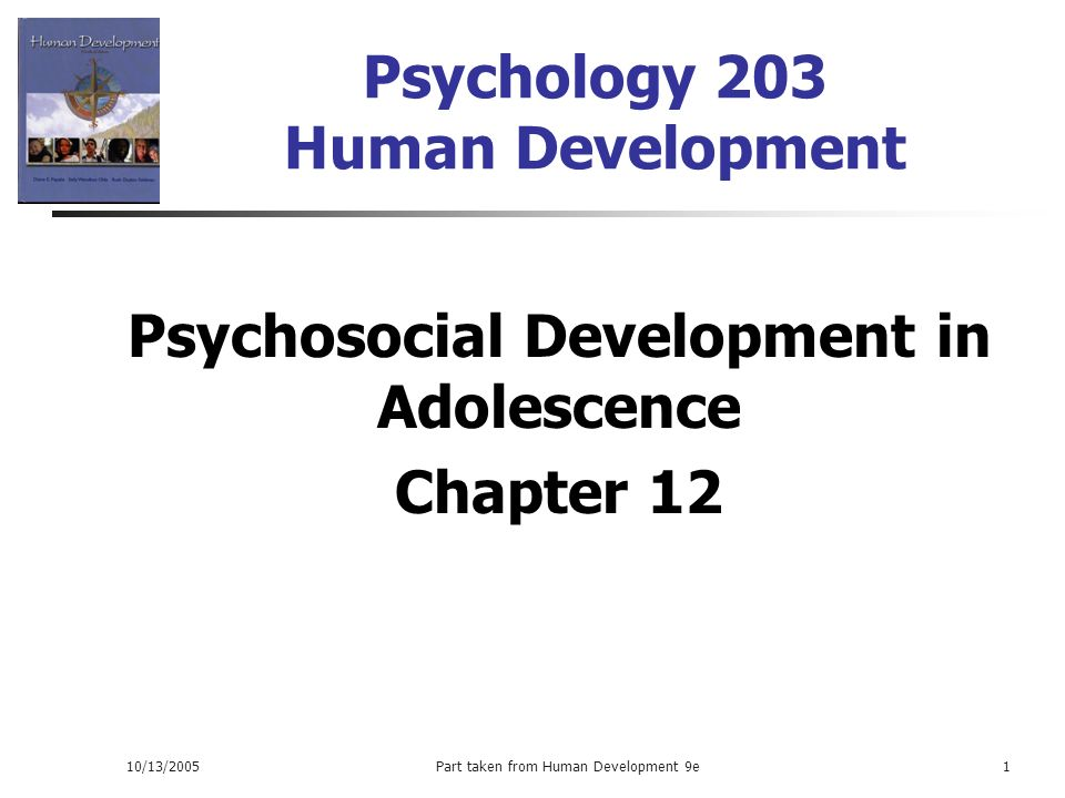psychosocial development psychological development in a Adolescence: psychosocial development the self & identity who am i during adolescence, the goal of many teens is to establish an identity identity: a consistent definition of one's self as a unique individual, in terms.