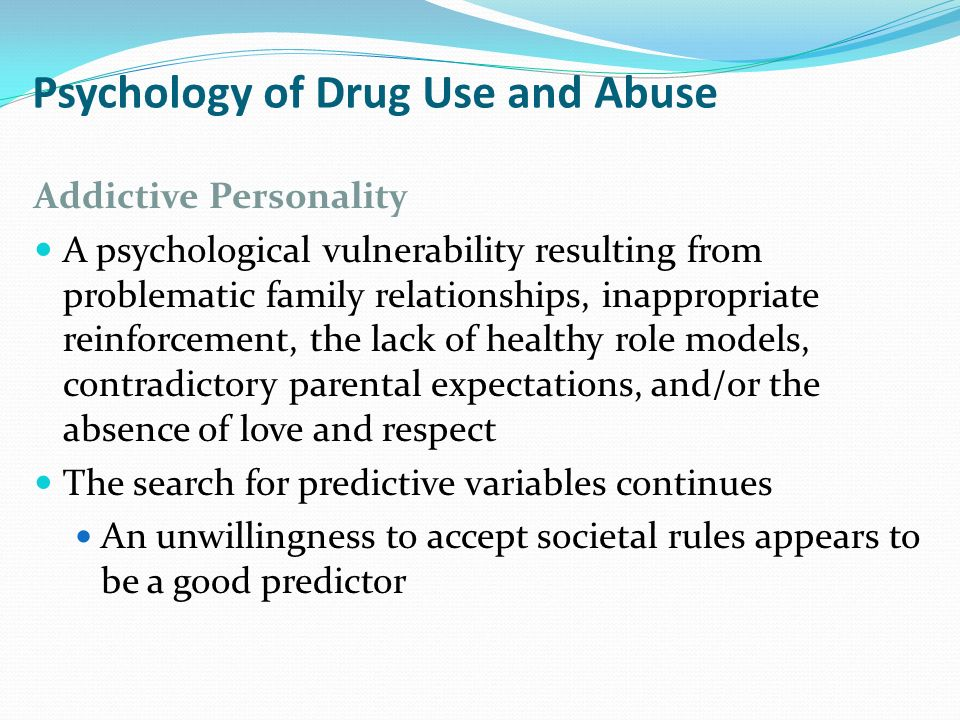 psychology and drugs