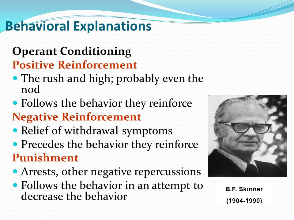the pavlovian and operant conditioning concepts and the explanation of the behavior of calling peopl Connect to download get pdf development editor: jeff riley production editor: tracey croom.