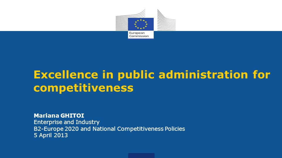 Excellence in public administration for competitiveness