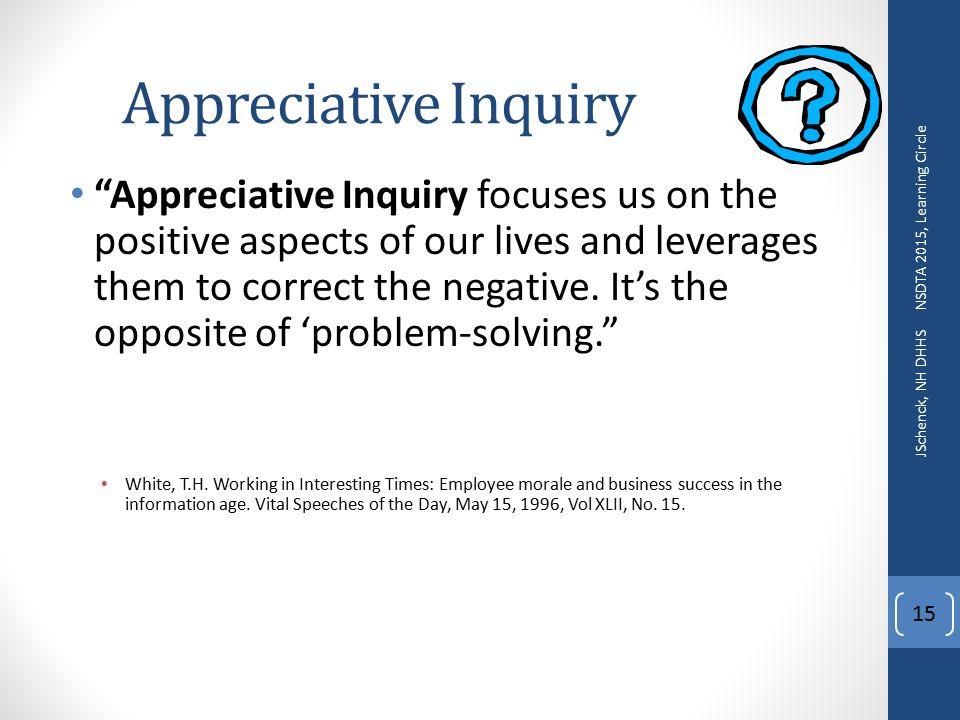 appreciative inquiry exercise