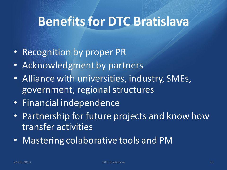 Benefits for DTC Bratislava