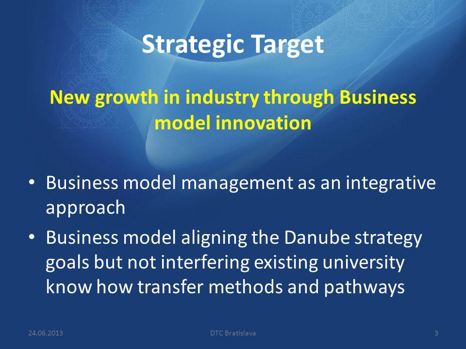 New growth in industry through Business model innovation