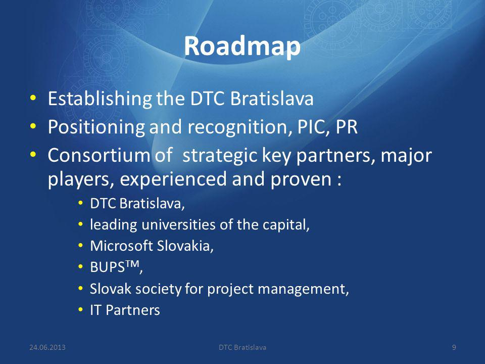 Roadmap Establishing the DTC Bratislava