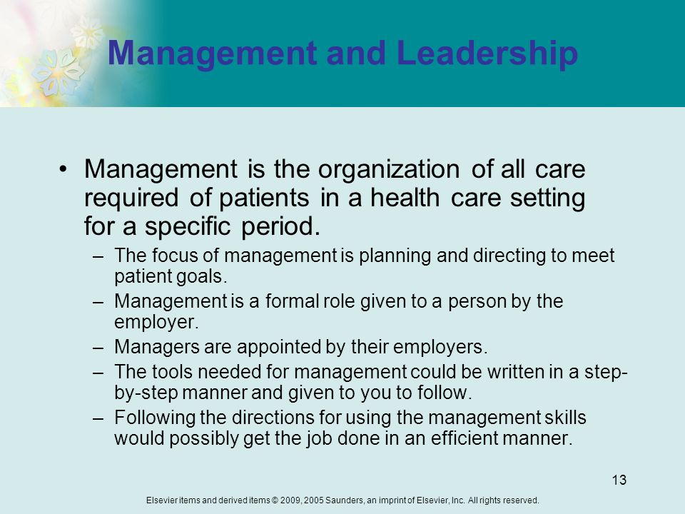 leadership and management in a non healthcare setting Healthcare leadership resource center access an extensive library of healthcare resources and content  and career management in the healthcare industry.