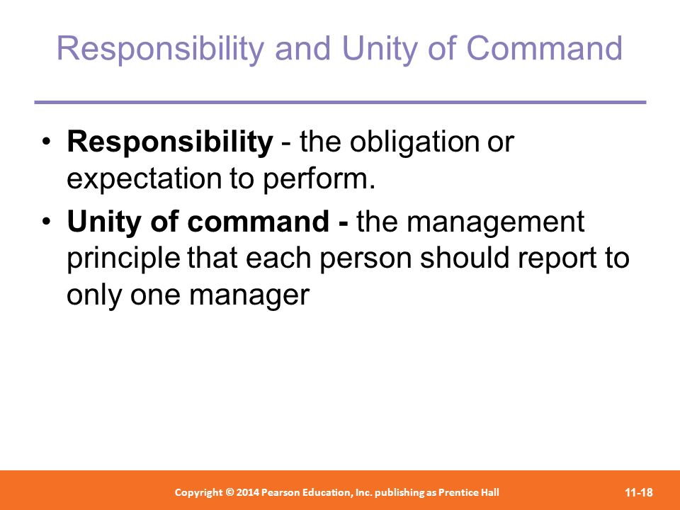 Responsibility and Unity of Command