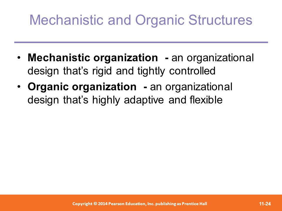 Mechanistic and Organic Structures