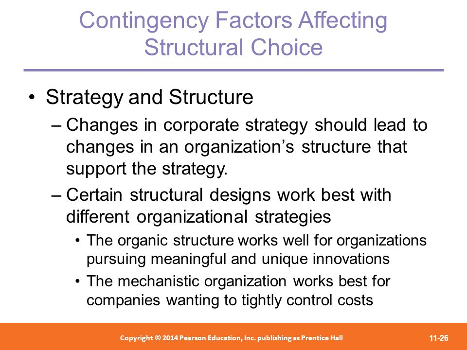 Contingency Factors Affecting Structural Choice