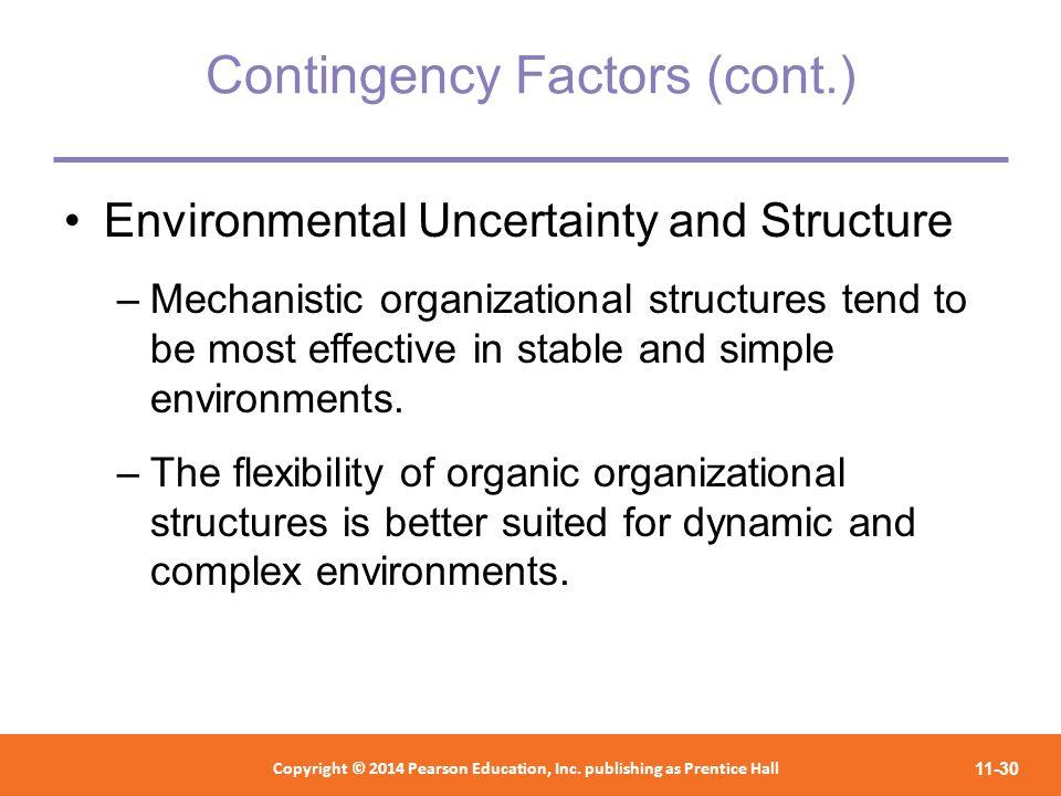 Contingency Factors (cont.)