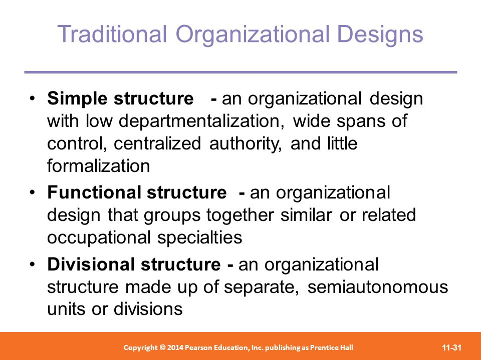 Traditional Organizational Designs