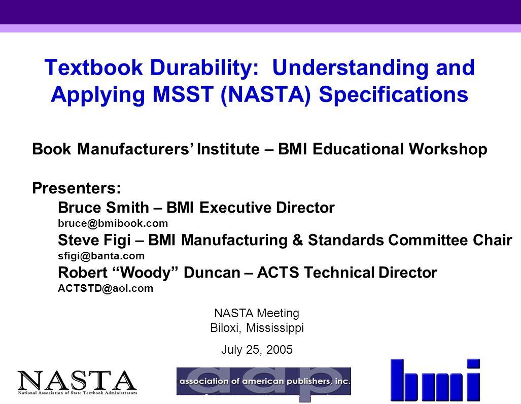 Book Manufacturers' Institute – BMI Educational Workshop ...