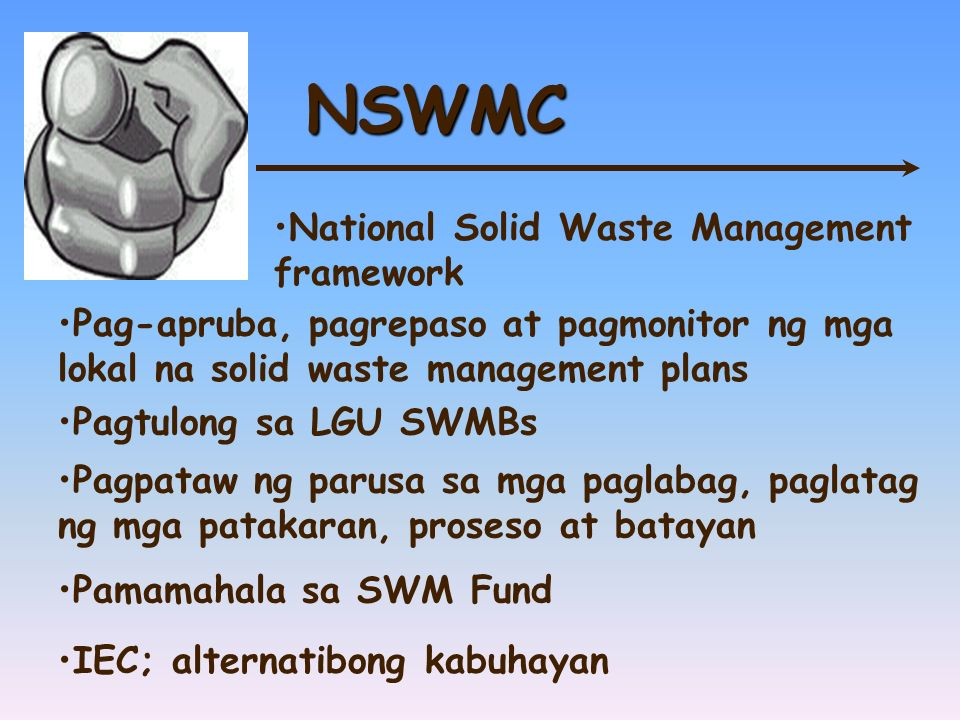 NSWMC National Solid Waste Management framework