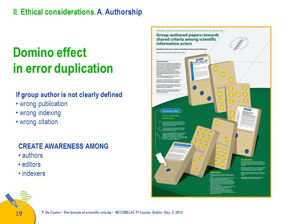 Domino effect in error duplication